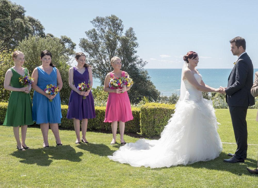 Ceremony | Astra Bride Jo | Bonny 229 | Taranaki wedding | Photography by Mark Bellringer |