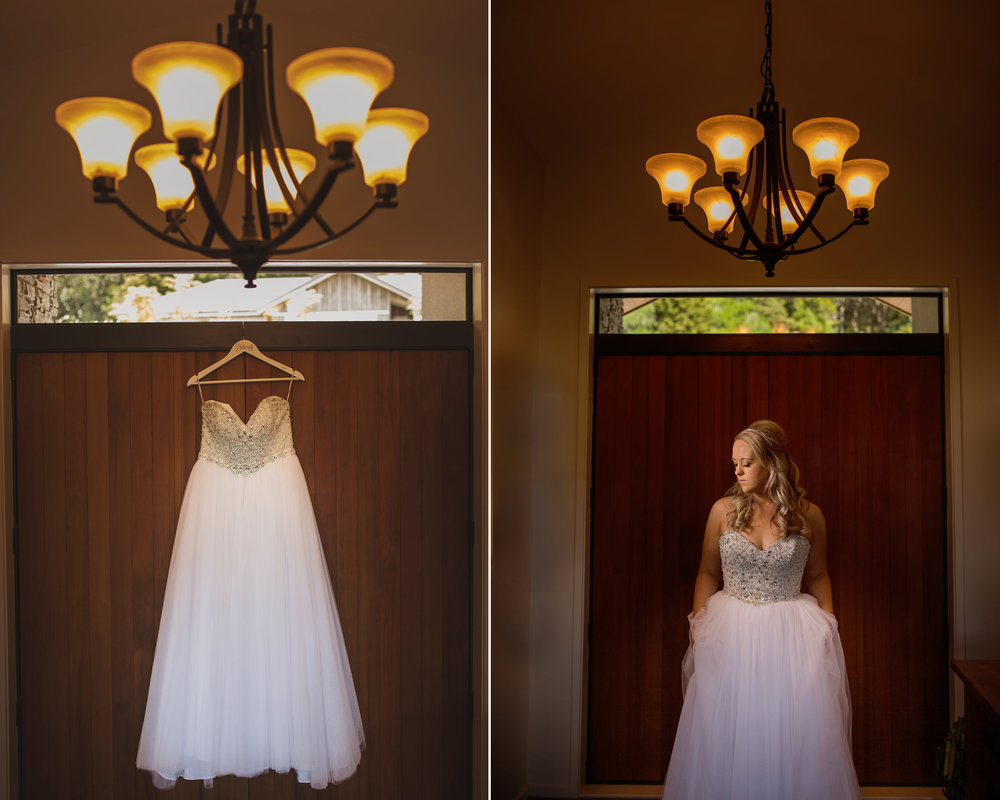 Deborah wanted a white gown with a sparkling bodice and a plain full skirt from the moment she started looking for her gown. The Maggie Sottero Esme ticked all the boxes.