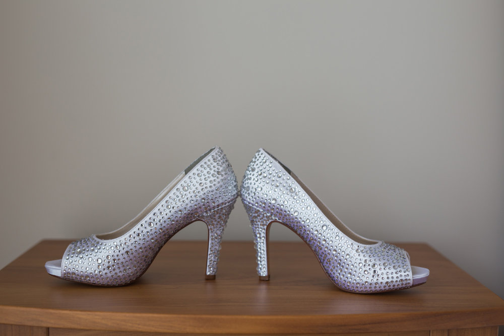 The sparkly Eliza shoe from Benjamin Walk was the perfect complement to the sparkles in the bodice of the gown.