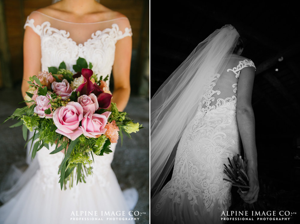 Astra Bride Hannah | Lakeside wedding | Maggie Sottero Cassandra | Gorgeous flowers |