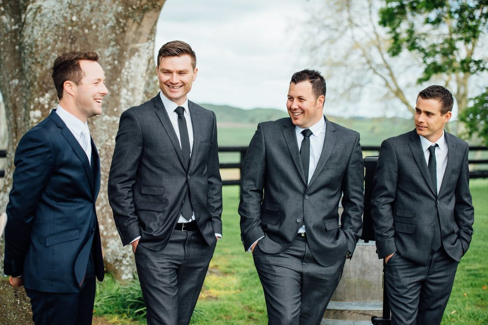 Astra Bride Jessica | Maggie Sottero Londyn | Red Barn Waikato | Photography by Tiffany Curtis | The boys await |