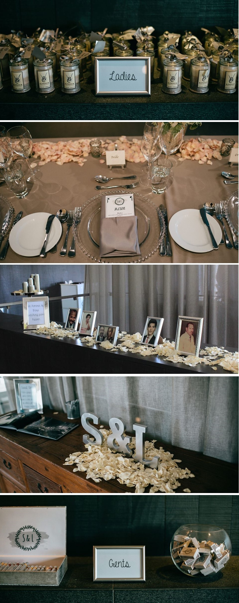 Elegant wedding table decor | City Chic wedding inspiration | Astra Bride Sanacha | www.borrowedandblue.kiwi | Gown from www.astrabridal.co.nz