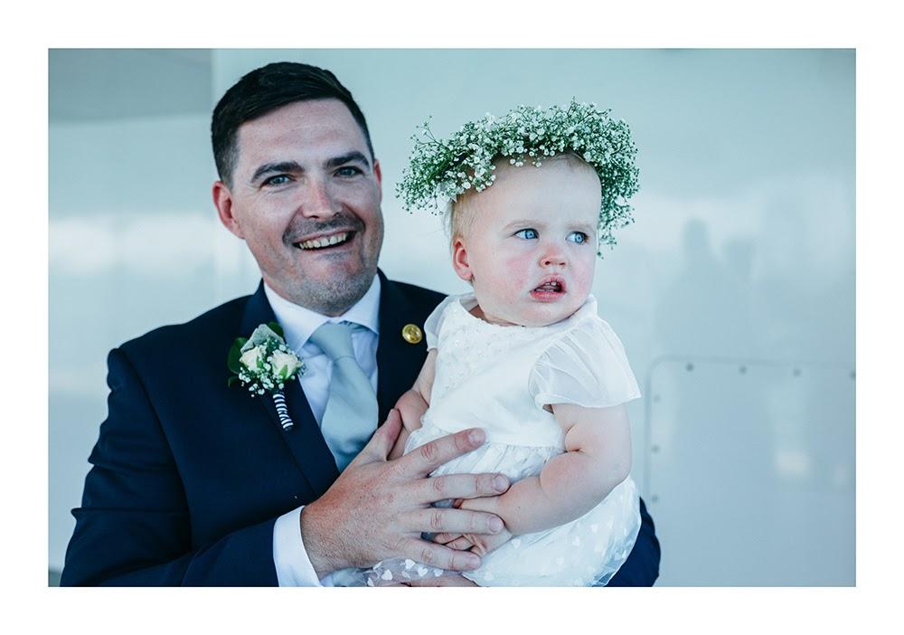Astra Bride Nadine | Nautical Wedding | Maggie Sottero Patience | Photographer Justin Aitken | Gorgeous babys breath garland |