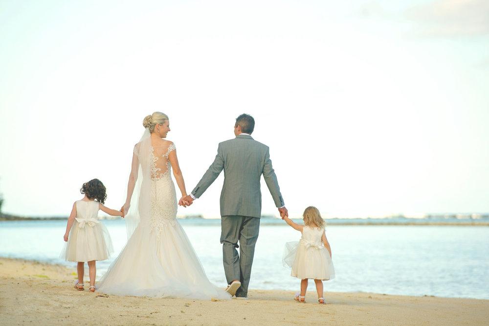 Astra Bride Justine | Maggie Sottero Cassandra | Pacific Resort Rarotonga | Noir Photography | Flowergirls |