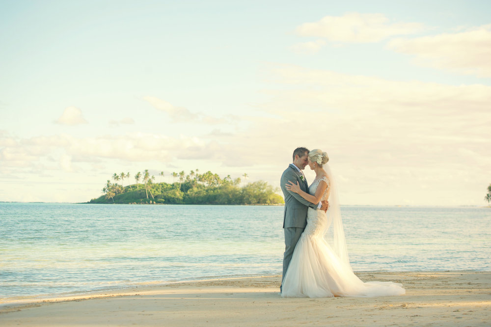 Astra Bride Justine | Maggie Sottero Cassandra | Pacific Resort Rarotonga | Noir Photography | Tropical Paradise |