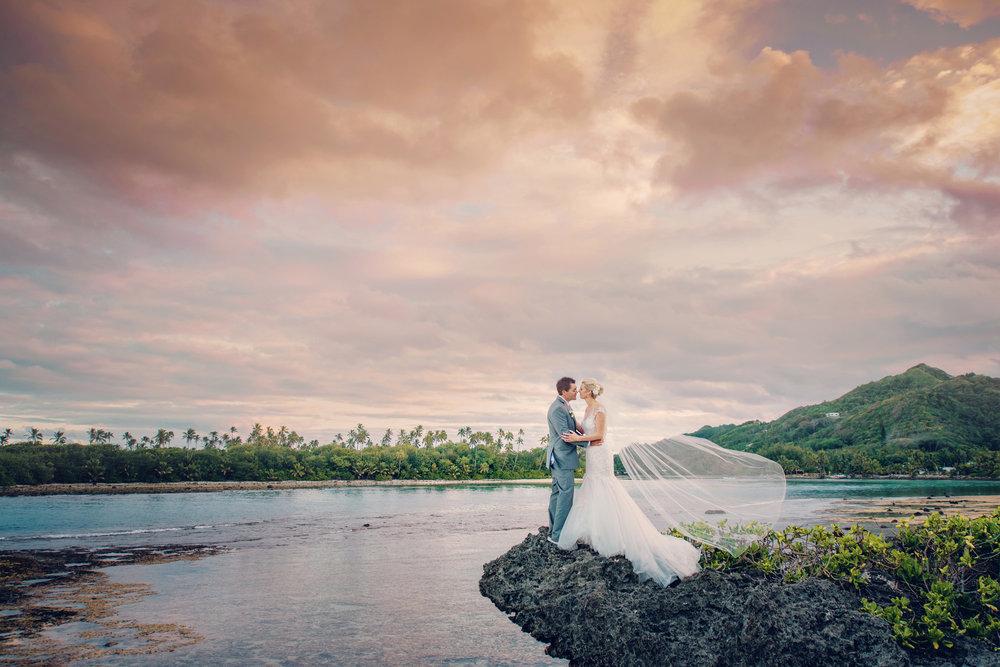 Astra Bride Justine | Maggie Sottero Cassandra | Pacific Resort Rarotonga | Noir Photography | Tropical Lagoon |