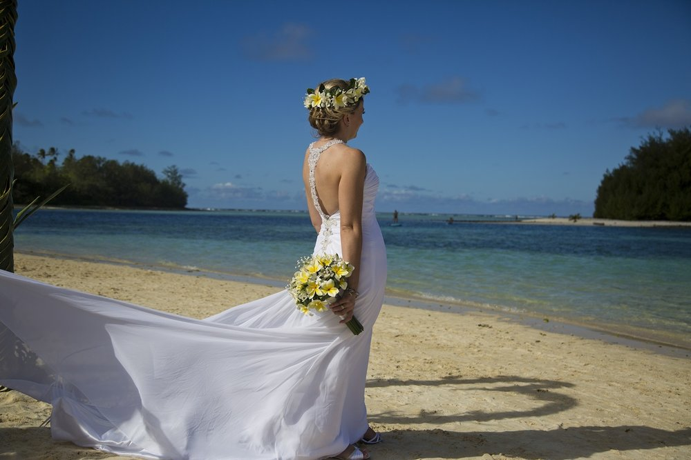 Yellow and white wedding theme | Island Wedding Inspiration | gown from Astra Bridal | Brought to you by borrowedandblue.kiwi