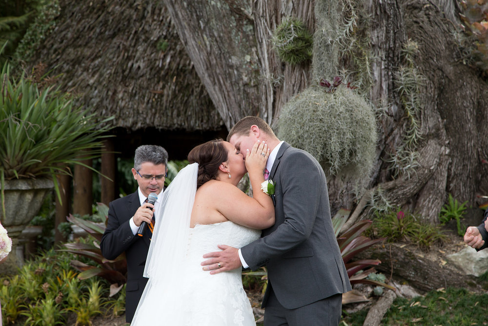 Astra Bride Rachael | Maggie Sottero Nadia | Kelliher Estate | Marie Brooke Photography | First kiss |