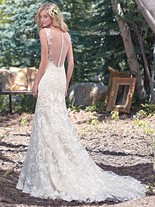 Brides looking for Vintage wow factor should definitely check out the Rhianne by Maggie Sottero
