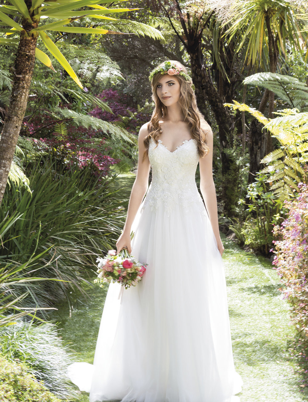 Marjorie from Rebecca Ingram | Issue 91 Bride and Groom Magazine | Available from Astra Bridal |