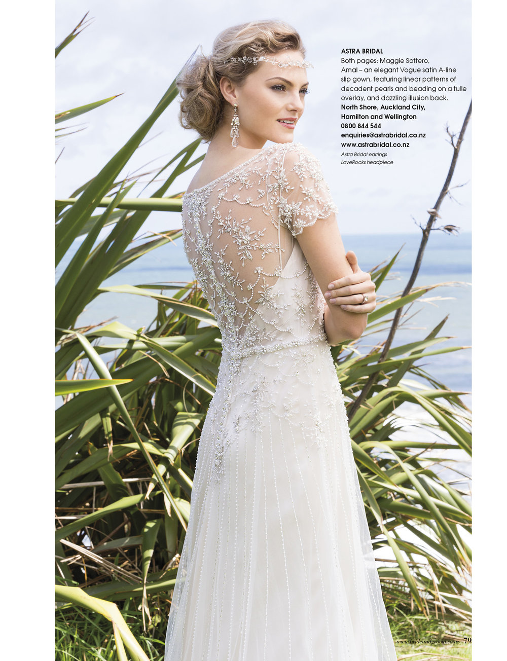 Maggie Sottero Amal | Issue 91 Bride and Groom Magazine | Available from Astra Bridal |