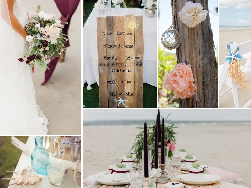 Beach Wedding inspiration | Gorgeous romantic table settins to inspire | brought to you by www.astrabridal.co.nz | Borrowed and Blue Magazine and Blog