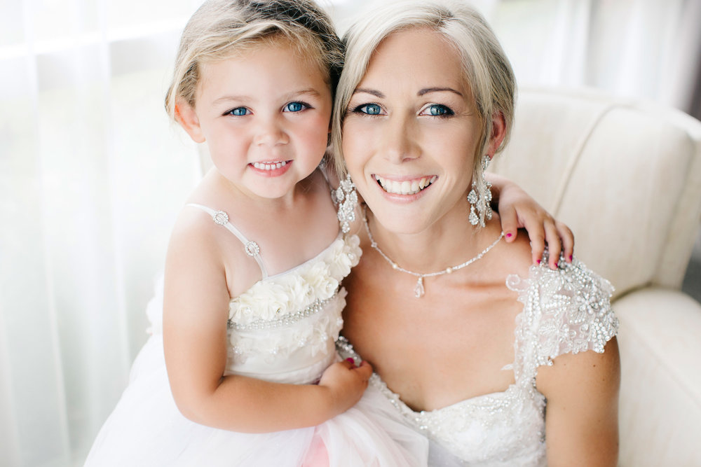 Super cute flowergirl | Astra Bride Natasha | Glamourous family wedding inspiration | Wedding dress by Maggie Sottero from Astra Bridal  | www.borrowedandblue.kiwi