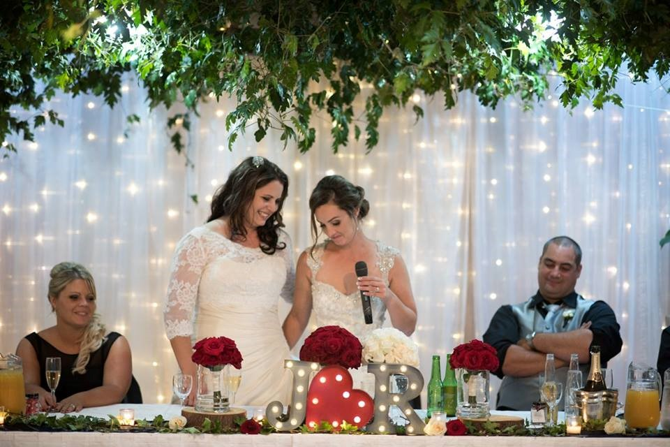 Same Sex Wedding | Astra Brides Jenna and Rachael | Gowns from Astra Bridal | Brought to you by borrowedandblue.kiwi