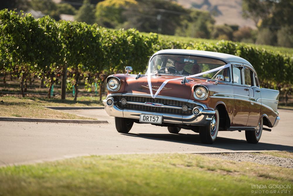 Vintage Chevrolet | Astra Bride Sophia | Sileni Wine Estate | Maggie Sottero Emma | Lynda Gordon Photography