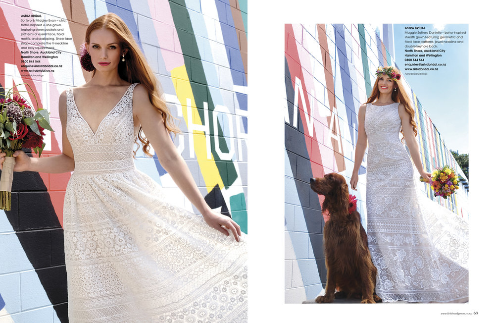 Maggie Sottero gowns Evan and Danielle. Perfect for a modern boho wedding.
