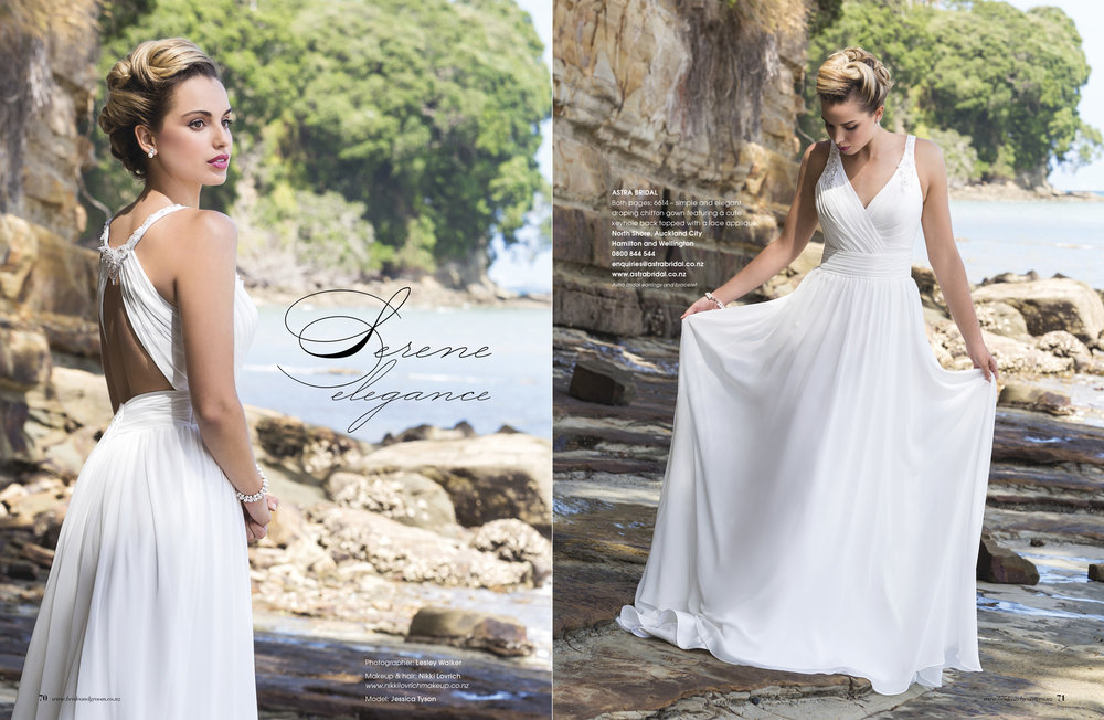Bonny 6614 - Light chiffon gown designed for the beach or destination bride in mind.  Simple elegant and very bridal.