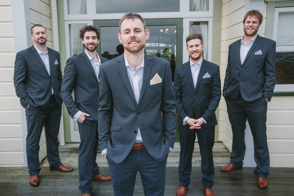 Boys in Blue suits | Astra Bride Cloe | Maggie Sottero Gianna | The Old Church Napier | Vintage Wedding | Richard Wood photographer |
