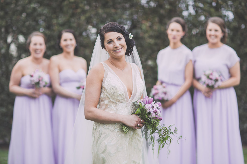 Lilac wedding party | Astra Bride Cloe | Maggie Sottero Gianna | The Old Church Napier | Vintage Wedding | Richard Wood photographer |