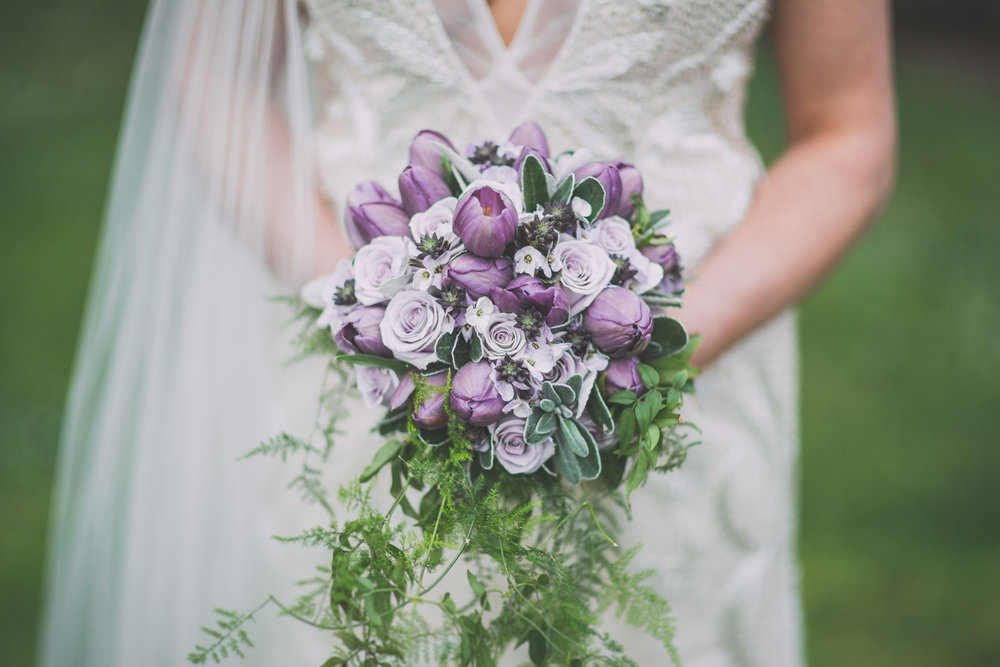 Gorgeous purple florals | Astra Bride Cloe | Maggie Sottero Gianna | The Old Church Napier | Vintage Wedding | Richard Wood photographer |