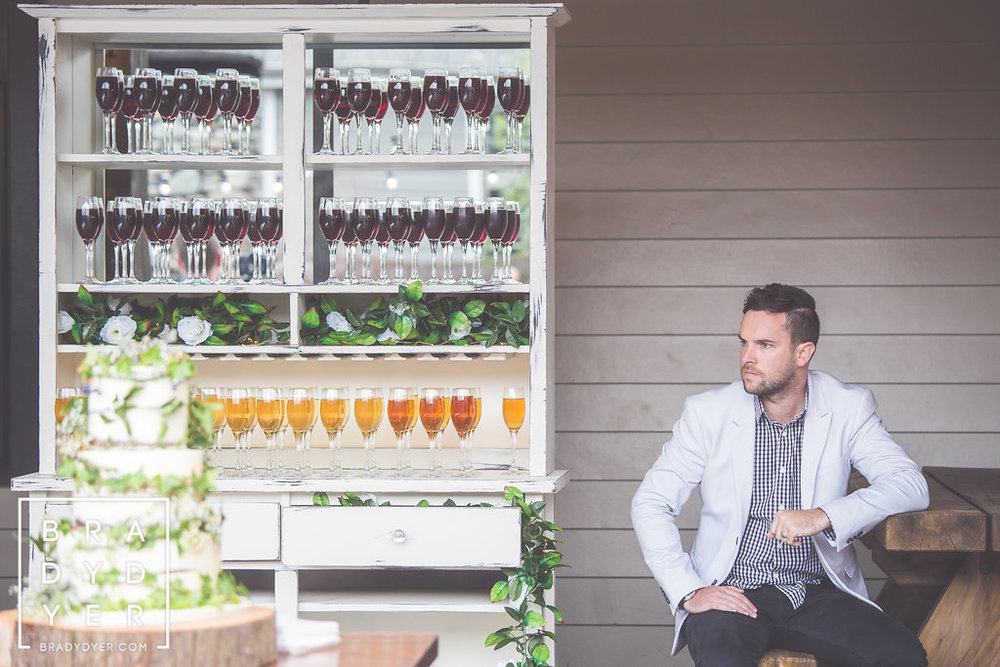 Wine bar | The Breeze Wedding in a Week | Dress from Astra Bridal | www.borrowedandblue.kiw