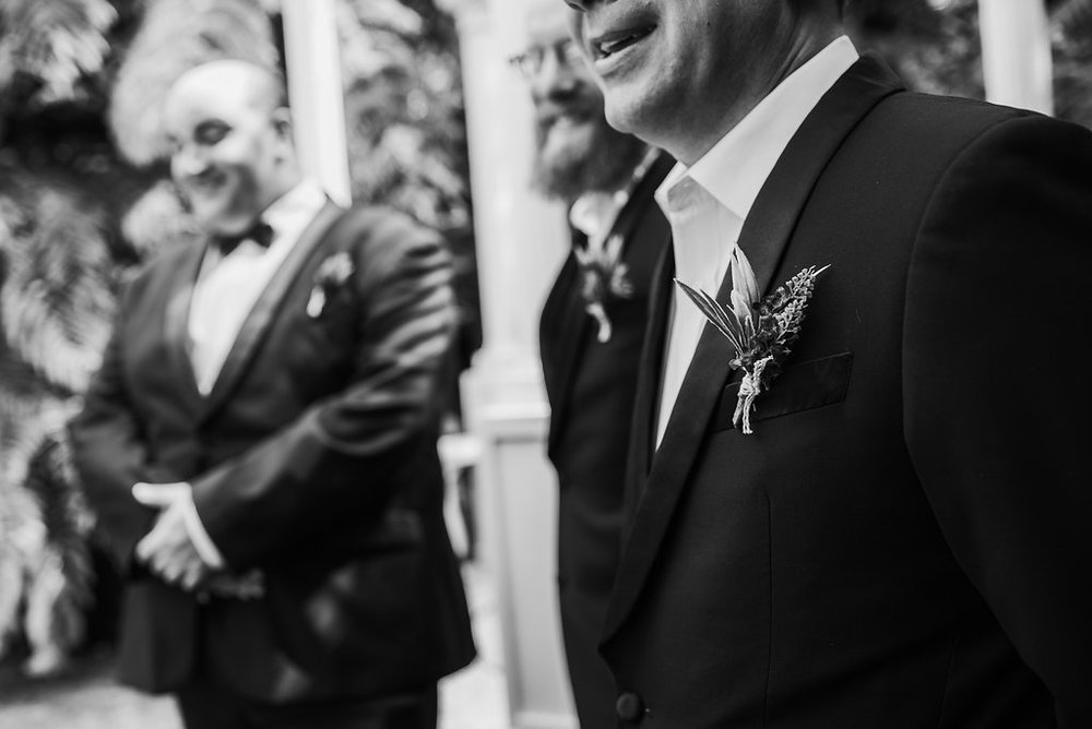 Groom awaits | Astra bride Joanne | Bonny 1500 | Cassels venue | Chris Turner Photography
