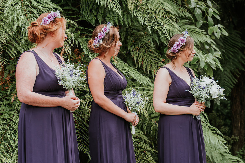 Purple bridesmaids | Astra bride Joanne | Bonny 1500 | Cassels venue | Chris Turner Photography