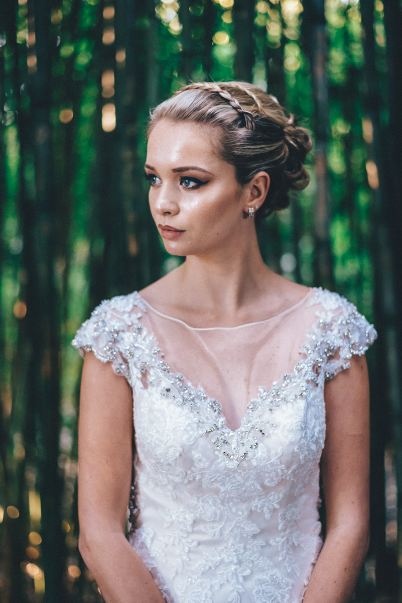 Wedding hair and make-up inspiration | Loulou's hair and make-up | gown from Astra Bridal | www.borrowedandblue.kiwi