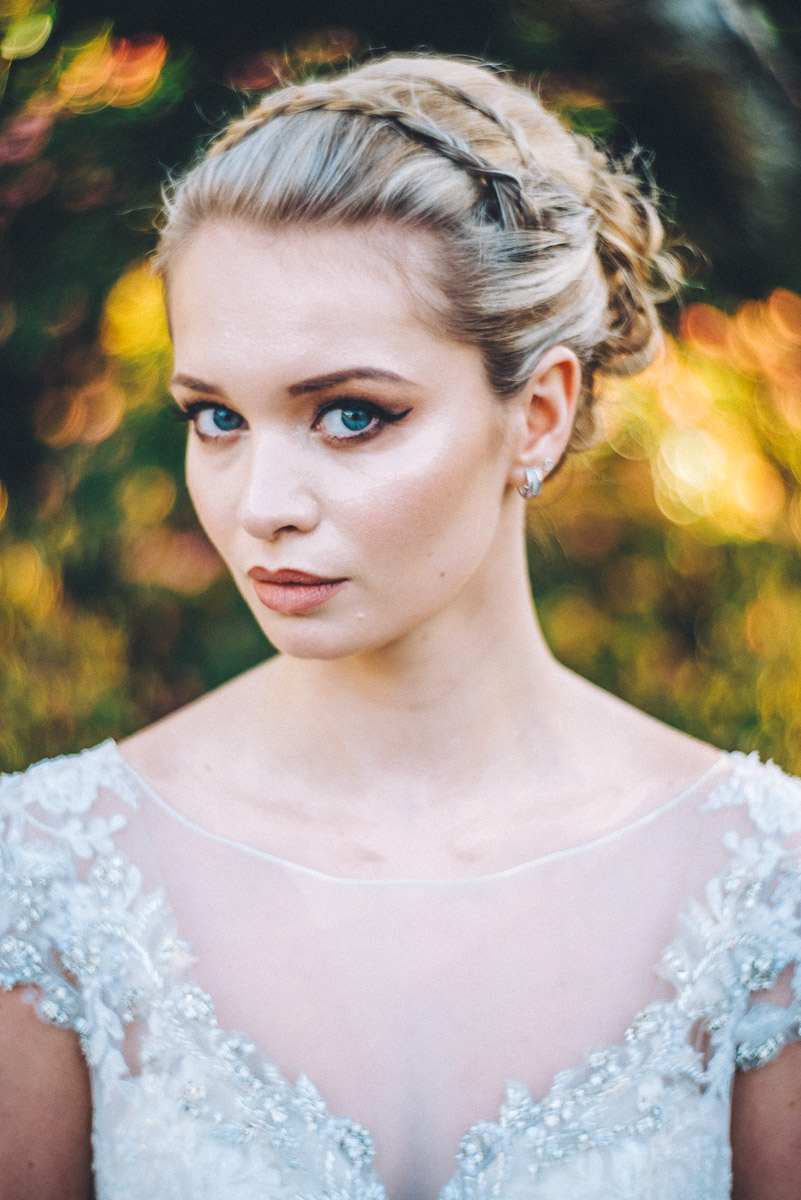 Beautiful braids | Wedding hair and make-up inspiration | Loulou's hair and make-up | gown from Astra Bridal | www.borrowedandblue.kiwi
