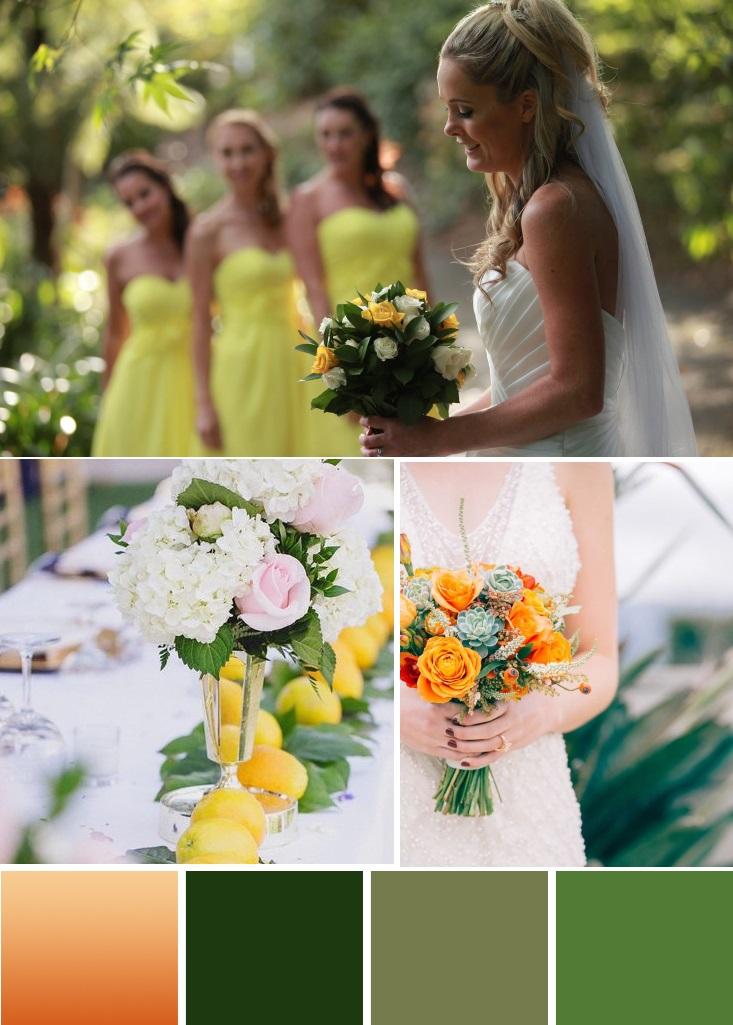Citurs and Green | 7 Wedding palettes for winter | www.astrabridal.co.nz | www.borrowedandblue.kiwi