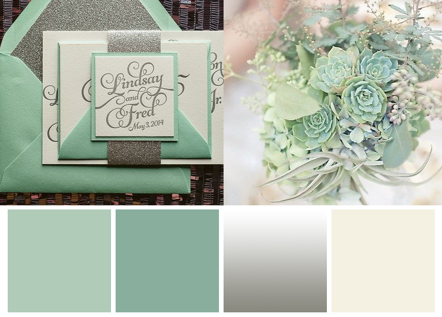 Mint Silver Wedding inspiration | Seven palettes for winter | www.borrowedandblue.kiwi | www.astrabridal.co.nz