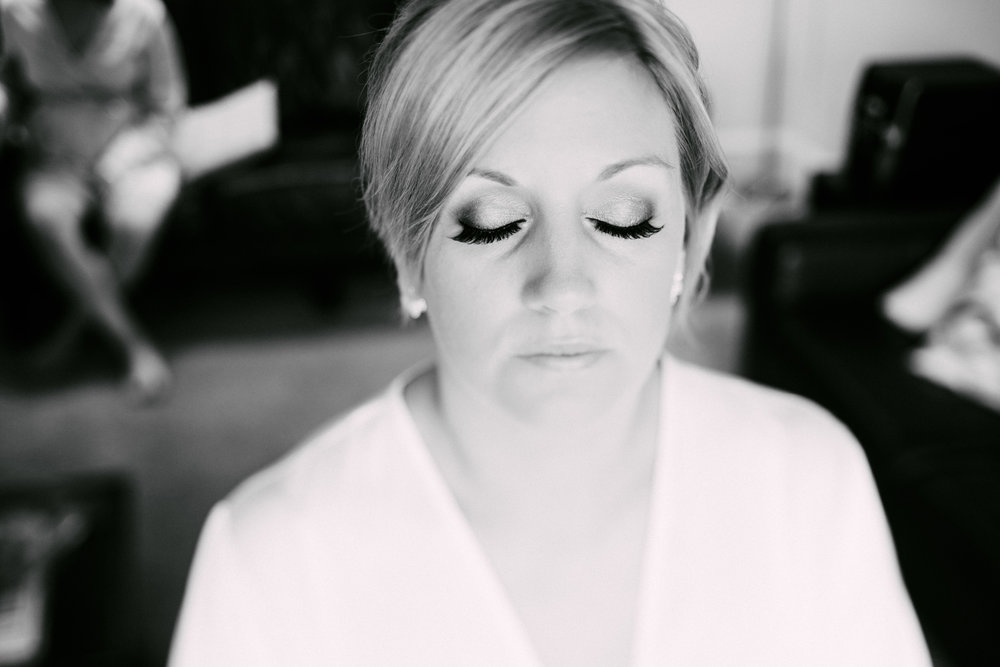Hair and makeup done | Astra Bride Simone | Maggie Sottero Melitta | The Old Church Napier | Brad Boniface Photographer |