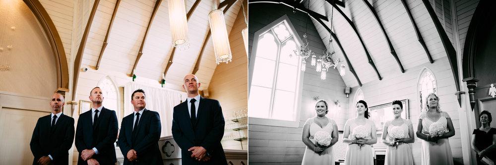 Party awaits the bride | Astra Bride Simone | Maggie Sottero Melitta | The Old Church Napier | Brad Boniface Photographer |