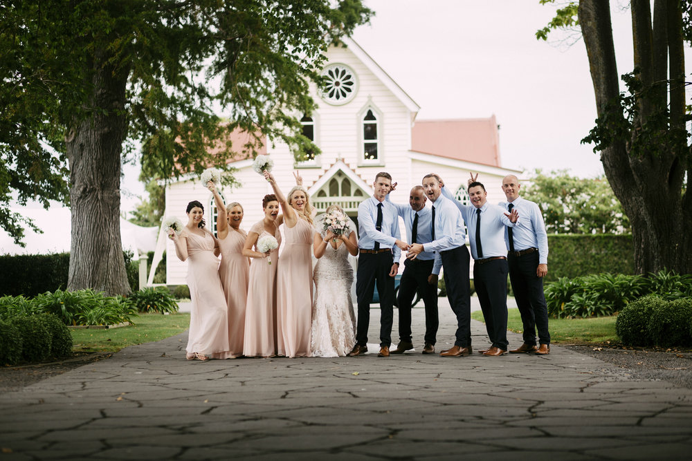 Fun pic | Astra Bride Simone | Maggie Sottero Melitta | The Old Church Napier | Brad Boniface Photographer |