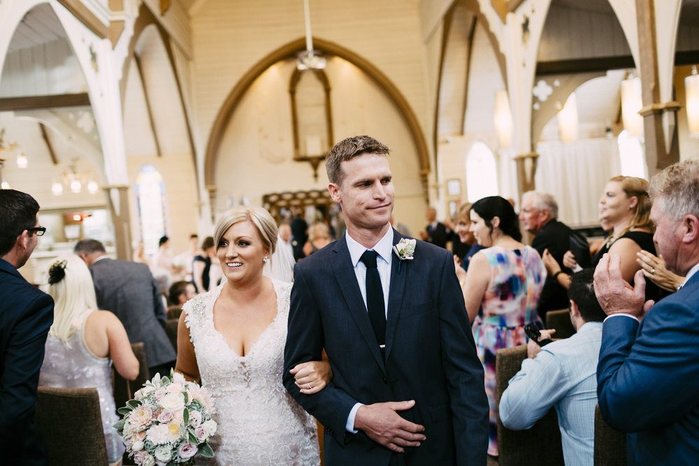 Happily married | Astra Bride Simone | Maggie Sottero Melitta | The Old Church Napier | Brad Boniface Photographer |