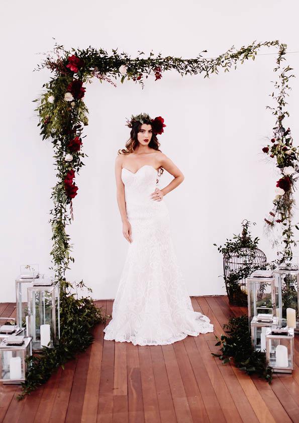 On Location | Red Boho Opulence | gown from Astra Bridal | www.borrowedandblue.kiwi | Photography by Proshot