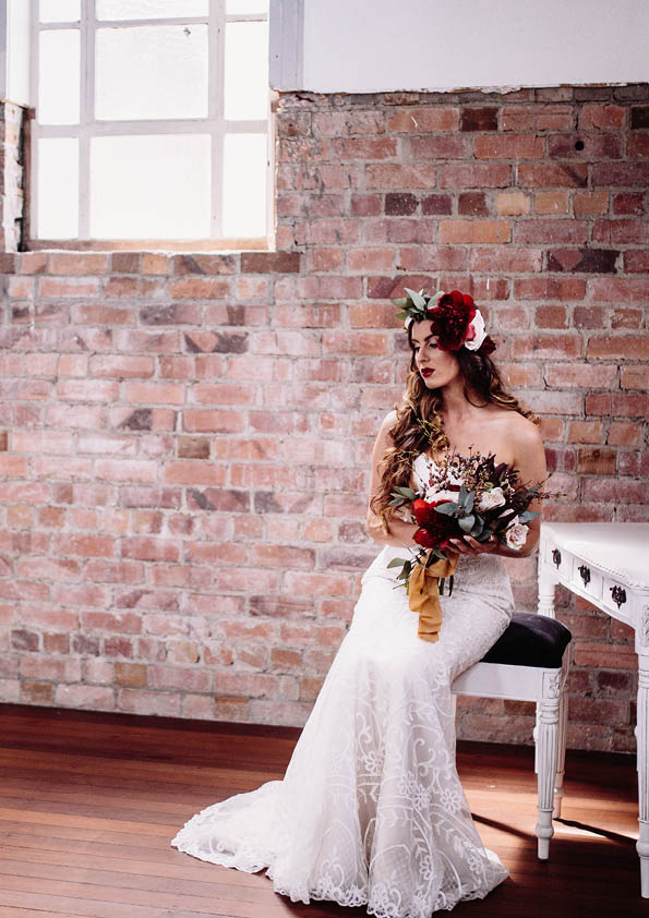 On Location | Red Boho Opulence | gown from Astra Bridal | www.borrowedandblue.kiwi | Photography by Proshot