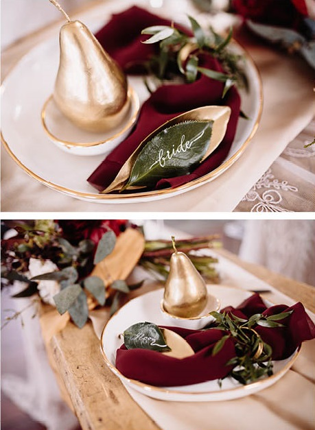 Glam table setting | On Location | Red Boho Opulence | gown from Astra Bridal | www.borrowedandblue.kiwi | Photography by Proshot