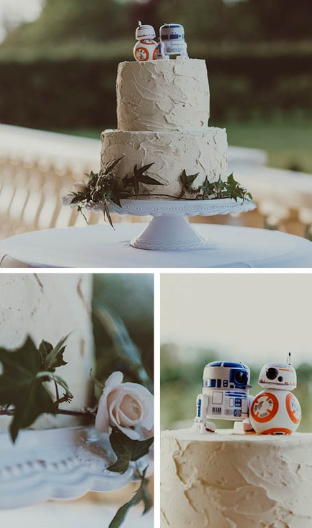 Star Wars Wedding cake | Astra Bride Courtney's Star Wars Wedding | Photography by Best Man Photography | gown from Astra Bridal | www.borrowedandblue.kiwi