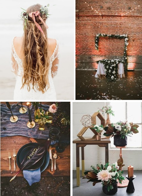 Boho Black Wedding Inspiration | gown from Astra Bridal | www.borrowedandblue.kiwi