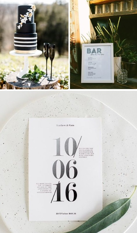 Modern simple black wedding inspiration | www.borrowedandblue.kiwi