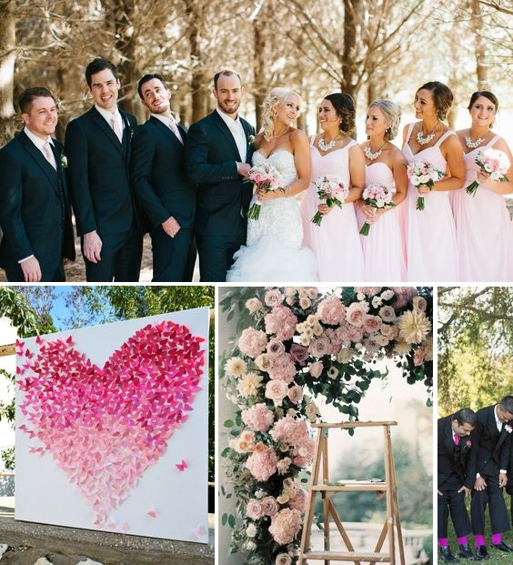 Pink wedding inspiration | found for you by Astra Bridal and www.borrowedandblue.kiwi