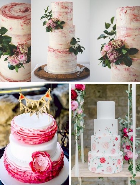 Pink wedding cakes | Pink wedding inspiration | found for you by Astra Bridal and www.borrowedandblue.kiwi