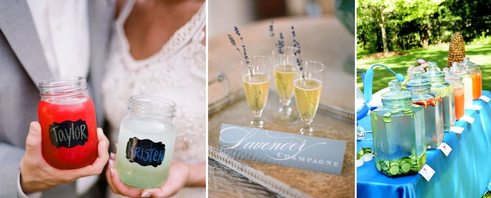 creative wedding drink ideas | DIY | found for you by Astra Bridal and www.borrowedandblue.kiwi
