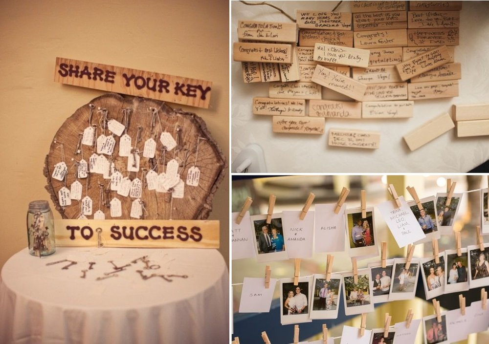 Creative guestbook ideas | DIY | found for you by Astra Bridal and www.borrowedandblue.kiwi