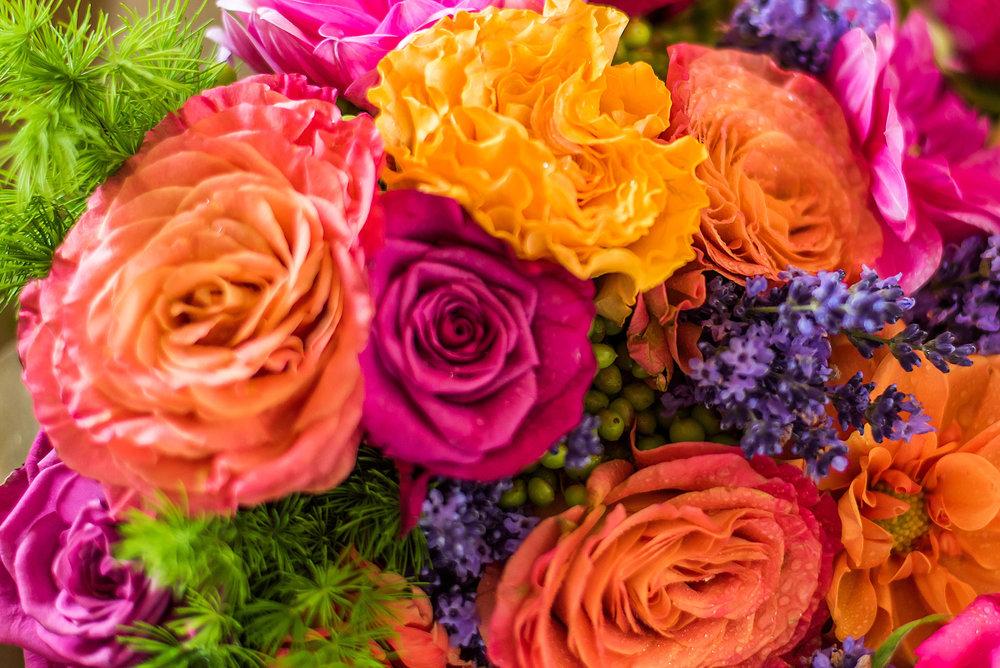 Bright florals | Astra Bride Rebecca | Maggie Sottero Melanie |