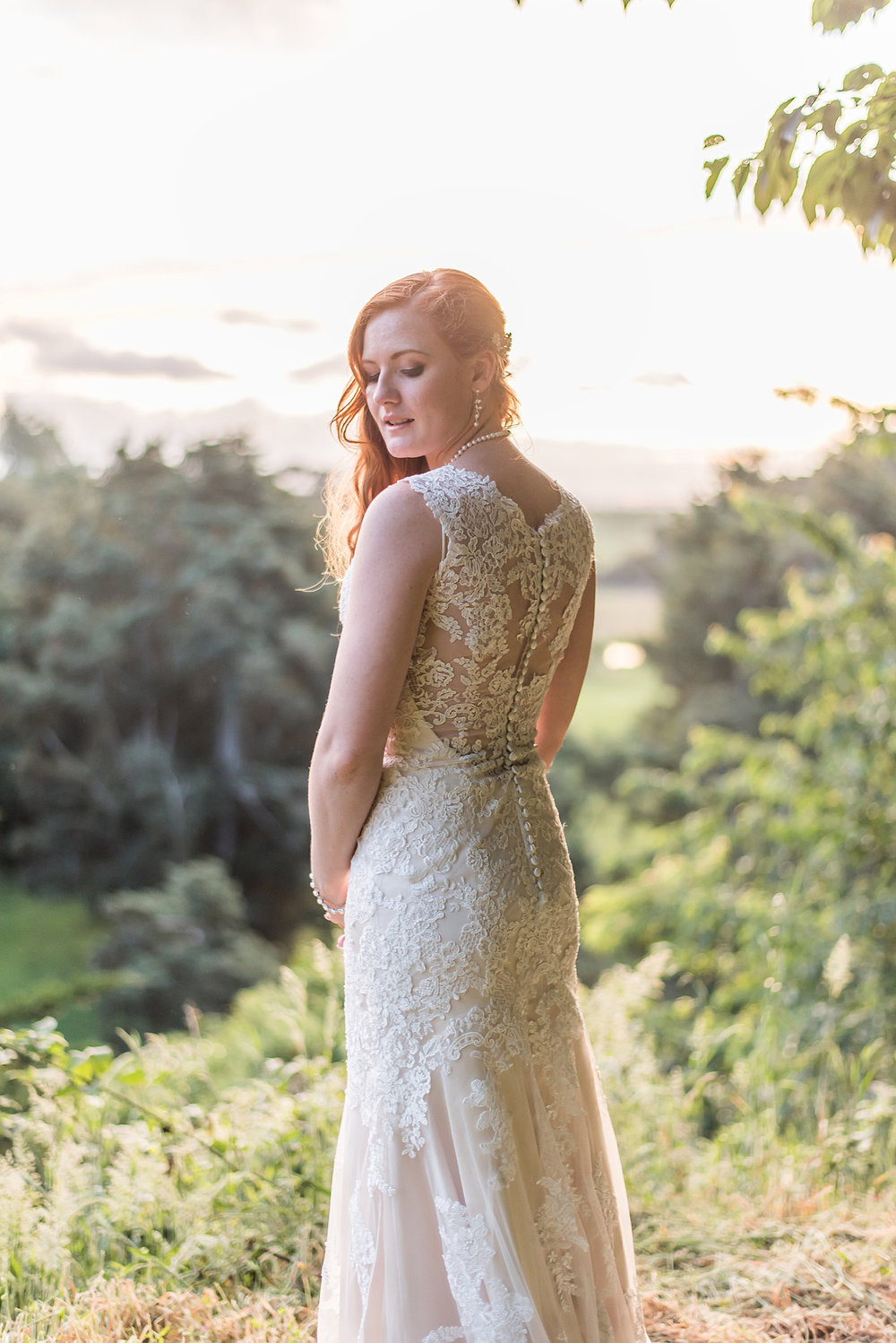 Back of gown | Astra Bride Rebecca | Maggie Sottero Melanie | Letfus Photography |
