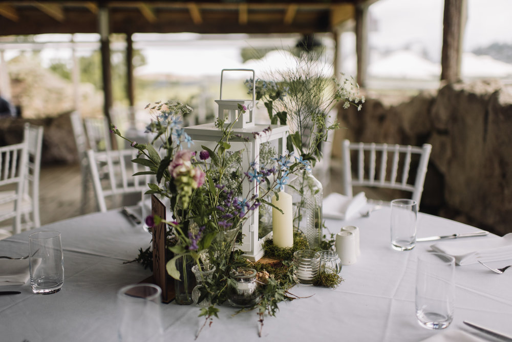 Vintage inspired table setting | Astra Bride Tania's New Zealand country wedding | Wedding dress by Maggie Sottero from Astra Bridal NZ | www.borrowedandblue.kiwi