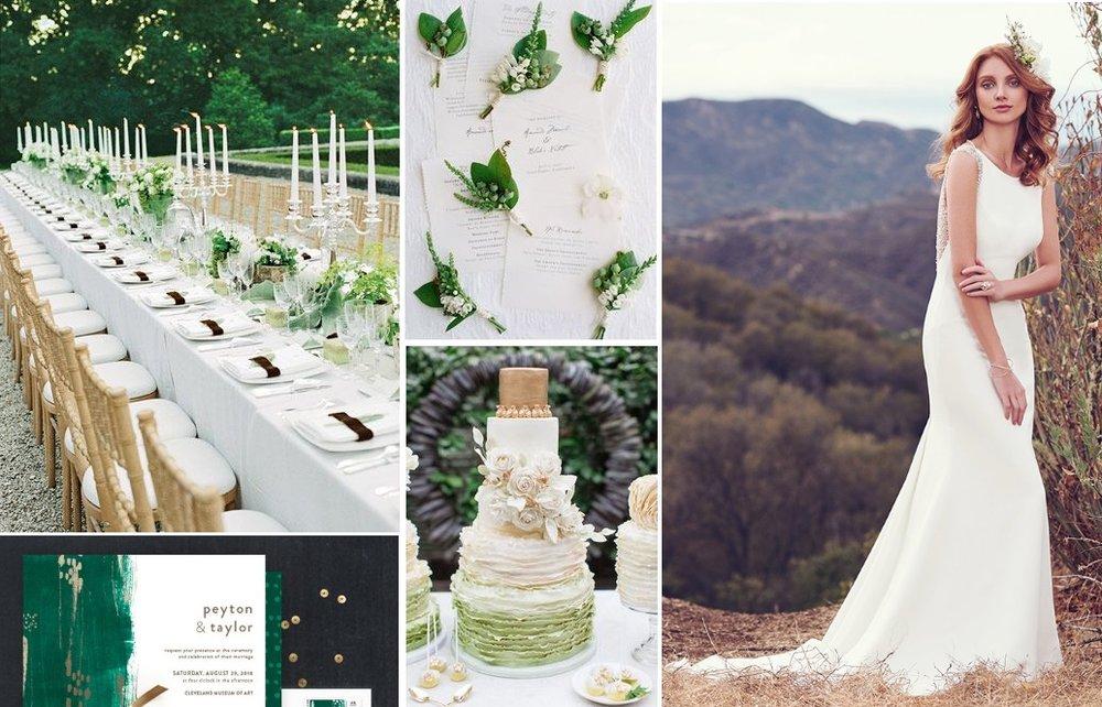 Modern Green Wedding Inspiration | New Zealand Brides | found for you by Astra Bridal and www.borrowedandblue.kiwi