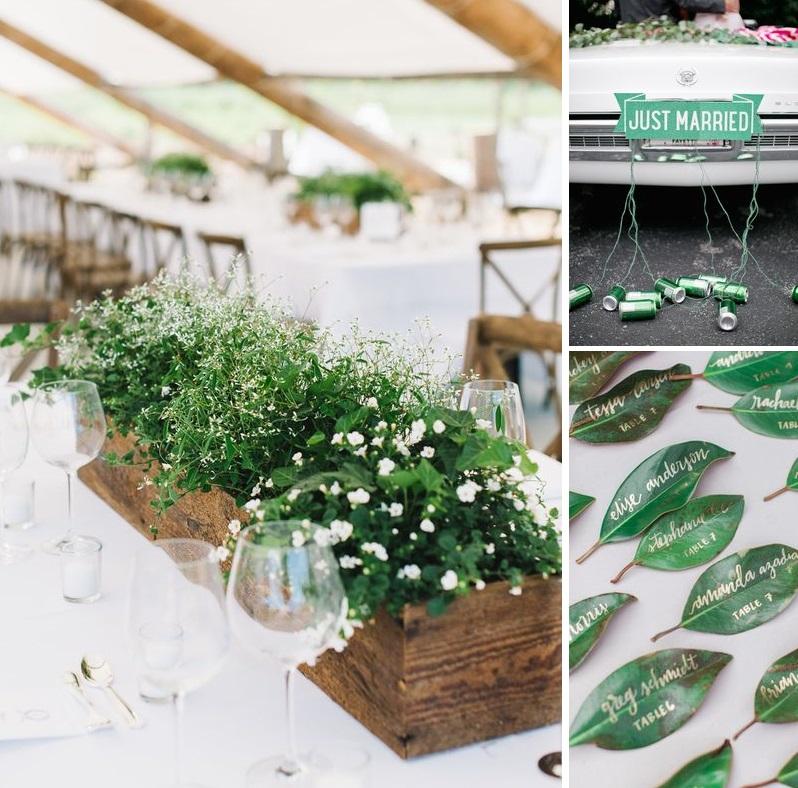 DIY Green wedding inspiration | New Zealand brides | found for you by Astra Bridal and www.borrowedandblue.kiwi